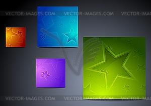 Hintergründe mit Sternen - Vektorgrafik-Design