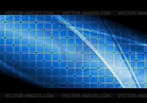 Blaues technisches Werbebanner - Vektor-Design