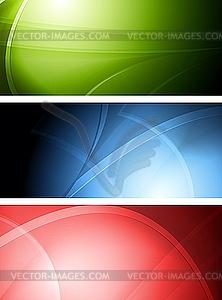 Set der abstrakten Banner - Vektor-Clipart / Vektor-Bild