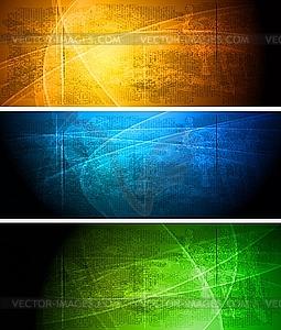 Set der dunklen Werbebanner - Clipart-Design
