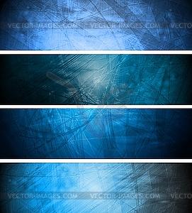 Blaue Werbebanner - Vector-Illustration