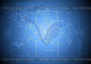 Blaue technische Zeichnung - Vector-Clipart / Vektor-Bild