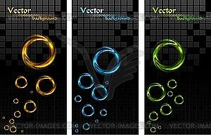 Banner mit bunten Ringen - Vektorgrafik