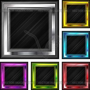 Farbige quadratische Rahmen - vektorisierte Abbildung