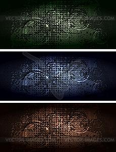 Set der dunklen Werbebanner - Clipart-Bild