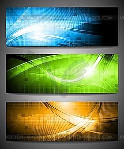 Set von drei Werbebanner - Clipart-Bild