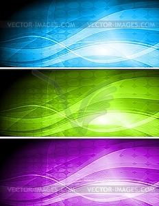 Set von bunten Werbebanner - Vektor Clip Art