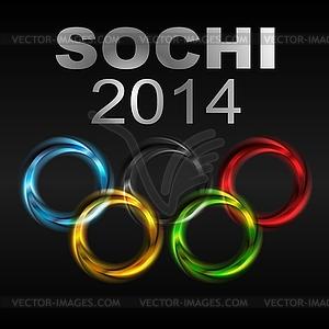 Olympische Spiele 2014 - Vector-Clipart / Vektor-Bild