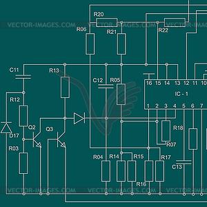 Электрическая схема фона - векторный ...