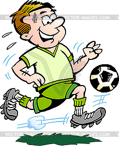 Fußballspieler Cartoon - Vector-Clipart EPS