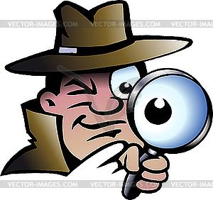 Inspektor Detektiv - Vektor Clip Art