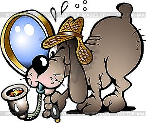 Inspektor-Hund - Vector-Illustration