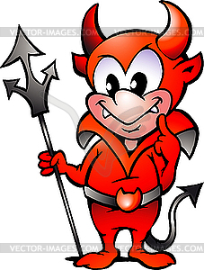 Rotes Teufel - vektorisiertes Bild