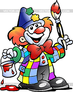 Clown-Maler - Vektor-Clipart EPS