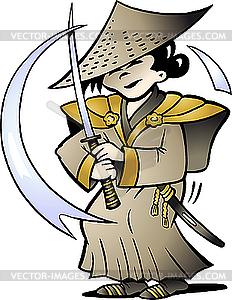 Japanischer Samurai - vektorisiertes Bild
