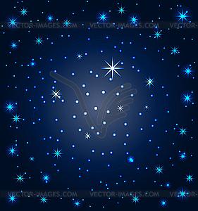 Nachthimmel mit Sternen - Stock Vektorgrafik