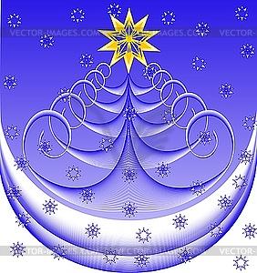 Weihnachtsbaum - Vektor-Clipart EPS