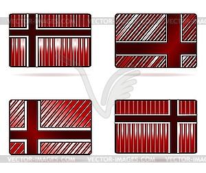 Set von Geschenkkarten - vektorisiertes Bild