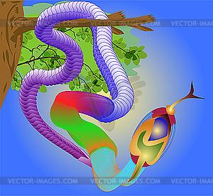 Tropische Schlange - Stock Vektor-Clipart