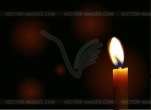 Kerze - Vector-Clipart EPS