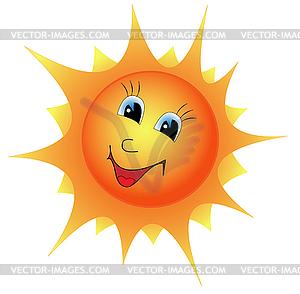 Lächelnde Sonne - Clipart-Design