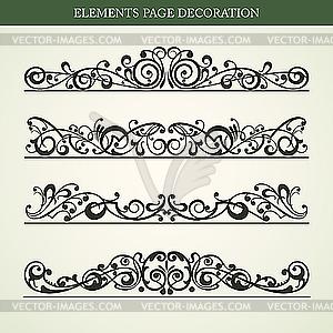Dekorative Design-Elemente - Vektor-Clipart EPS
