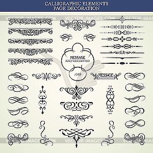Kalligraphische Design-Elemente - vektorisiertes Clipart
