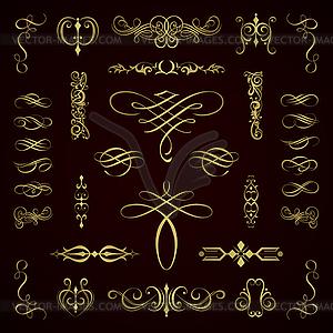 Kalligraphische Elemente - Klipart