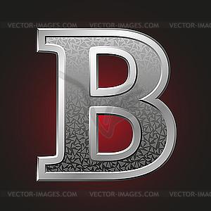Металлическая буква B - изображение в векторе / векторный клипарт