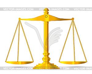 Waage der Gerechtigkeit - Vektorgrafik