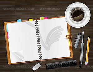 Tagebuch mit Foto - Vector-Clipart EPS