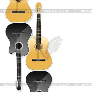 Realistische akustische Gitarren als Hintergrund - Vektor-Illustration