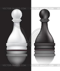Черно белые пешки изображение в