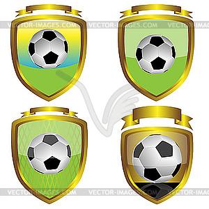 Футбольные эмблемы - векторное ...