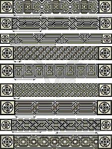 Ornamente im keltischen Stil - Clipart-Bild