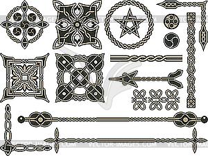 Keltische traditionelle Design-Elemente - Vektor-Klipart