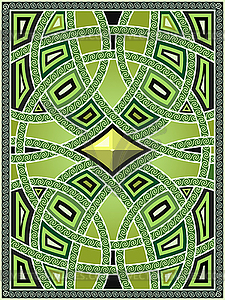 Hintergrund mit arabischen Mustern - vektorisiertes Bild