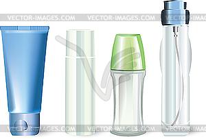 Flaschen von kosmetischen Produkten - Vektor-Bild