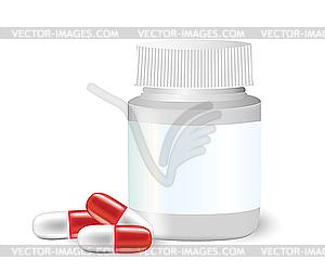Medizin-Flasche - Vektor-Illustration