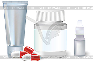 Medizin-Flaschen - Clipart-Design