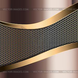 Metallischer Hintergrund - Vektor-Bild