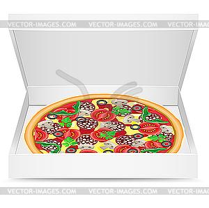 пицца фото в коробке