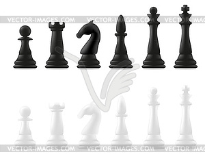 Schachfiguren - Stock-Clipart