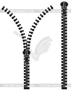 Reißverschluss Silhouette - Royalty-Free Clipart
