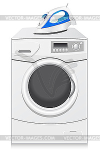 symbole sind eine waschmaschine und b geleisen vektorisiertes clipart. Black Bedroom Furniture Sets. Home Design Ideas