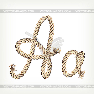 Seil-Buchstabe A - Vektorgrafik-Design