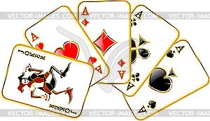 Joker und Asse - Vektor-Clipart EPS