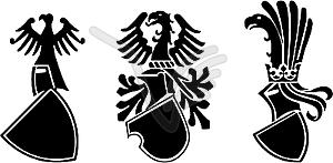 Die mittelalterliche Wappenschild - vektorisiertes Clipart