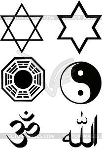 Die Religion Symbolsatz - Vektor-Abbildung
