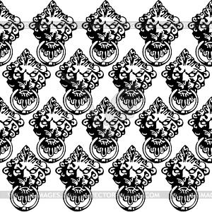 Die mittelalterliche nahtlose - Vector-Abbildung